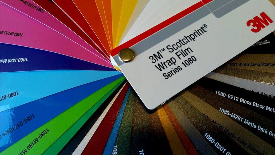 3m vinyl wrap colors chart